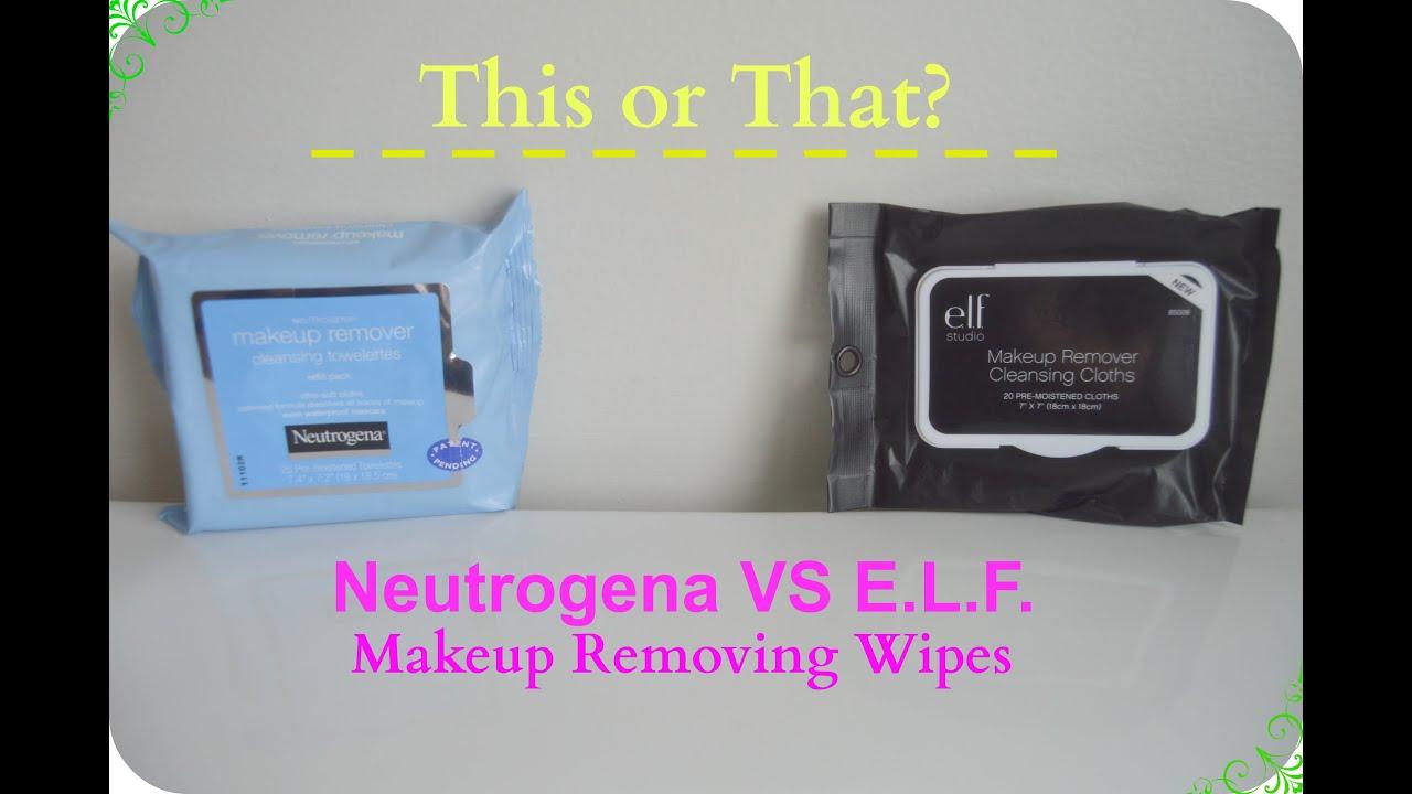 Neutrogena VS E.L.F. Makeup Wipes (Review+Demo) - YouTube
