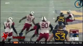 Justin Crawford (West Virginia RB) vs Oklahoma 2016