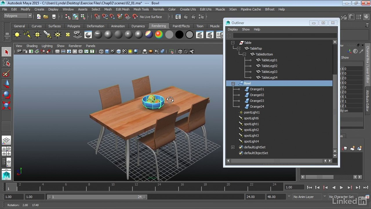 Work with the Outliner   Maya 2018 Essential Training from LinkedIn Learning