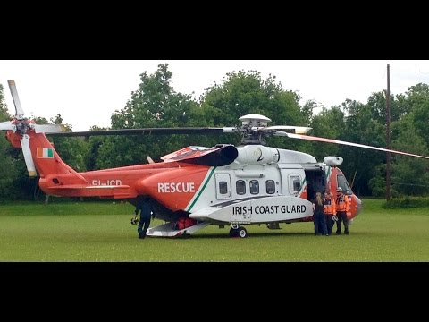Irish Coast Guard Helicopter (EI-ICD) at Ratoath National School