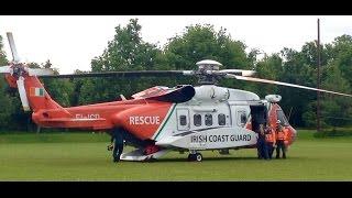 Irish Coast Guard Helicopter (EI-ICD) at Ratoath National School