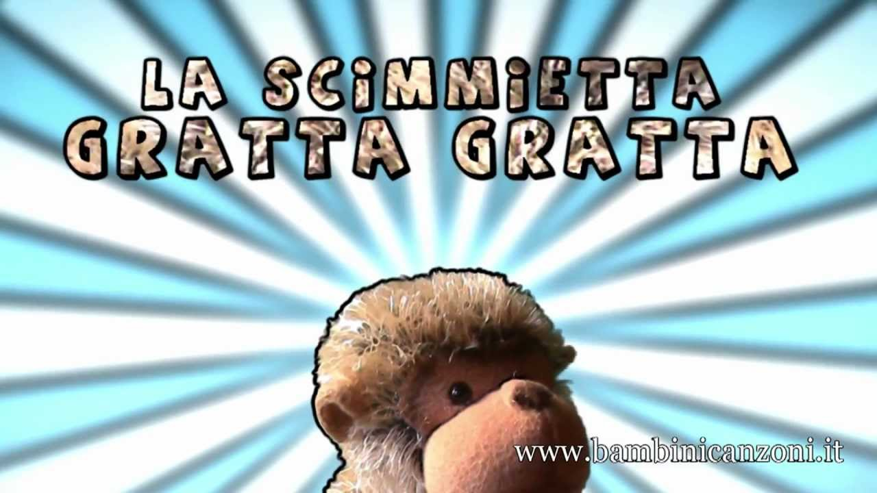 La scimmietta gratta canzoni per bambini e bimbi