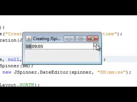 Creating JSpinner Component with time