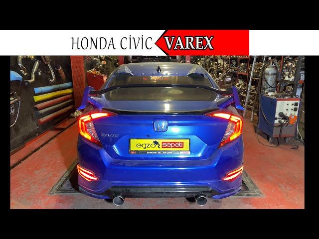 HONDA CIVIC FC5 1.6 SAG VE SOL AKTİF EGZOZ SESİ
