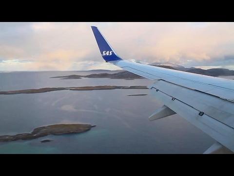 SAS Scandinavian Airlines 737-800 Oslo - Bodø Safety, Takeoff, Inflight, Landing, SK4104