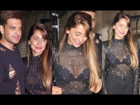 Anusha Dandekar Hot With Karan Kundra At Bipasha Basu Birthday Party 2018