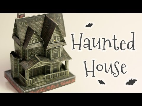 DIY halloween haunted house papercraft (step by step tutorial)
