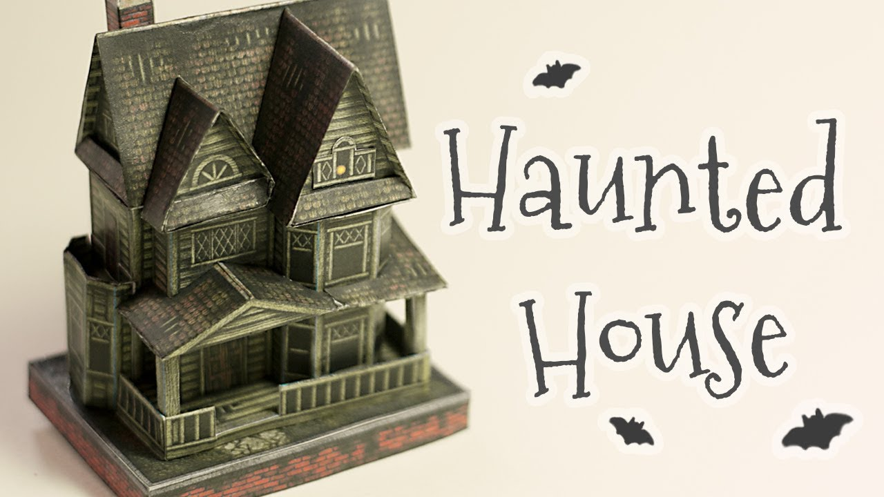 Diy Halloween Haunted House Papercraft Step By Step Tutorial Youtube