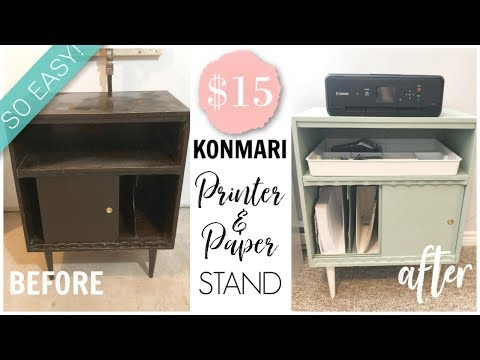 KonMari | DIY Printer Stand & Paper Organization