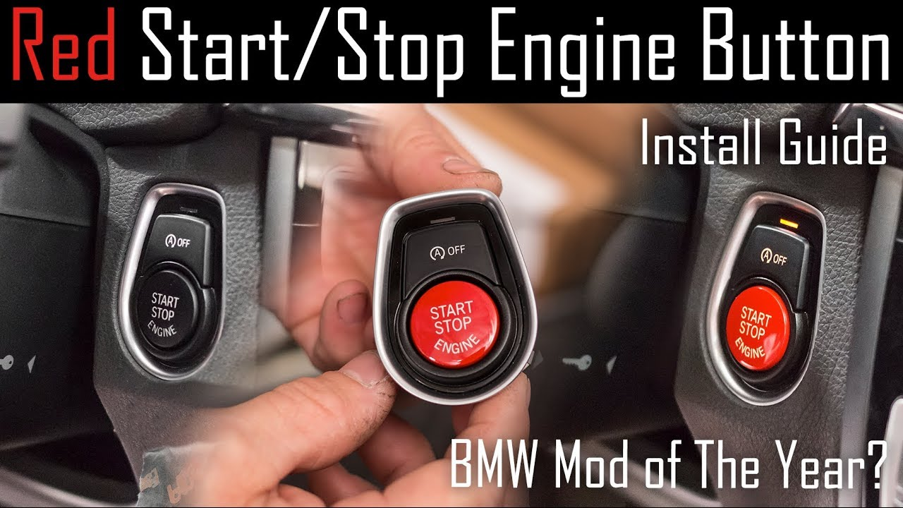 Red Start Stop Engine Button Install Guide Bmw 2 7 Series F Chassis How To Wire Push Switch 15 A