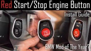 Червона кнопка запуску/зупинки двигуна керівництво по установці (шасі BMW серії 2-7 Ф)