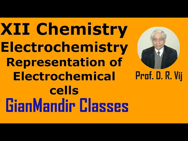 XII Chemistry | Electrochemistry | Representation of Electrochemical cells by Gourav Sir