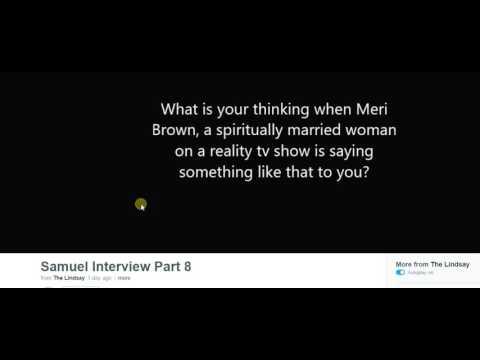 "Fake ""Sam Cooper"" Has an interview About Meri Brown: CATFISH SCANDAL"