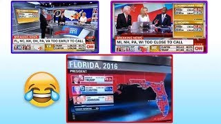 The *INCREDIBLE* moment CNN realizes Trump will WIN FLORIDA!!