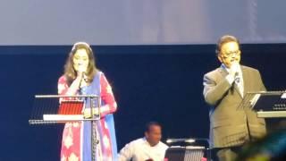 Valaiyosai kala Kalavena  Live at Singapore by SPB n Swetha