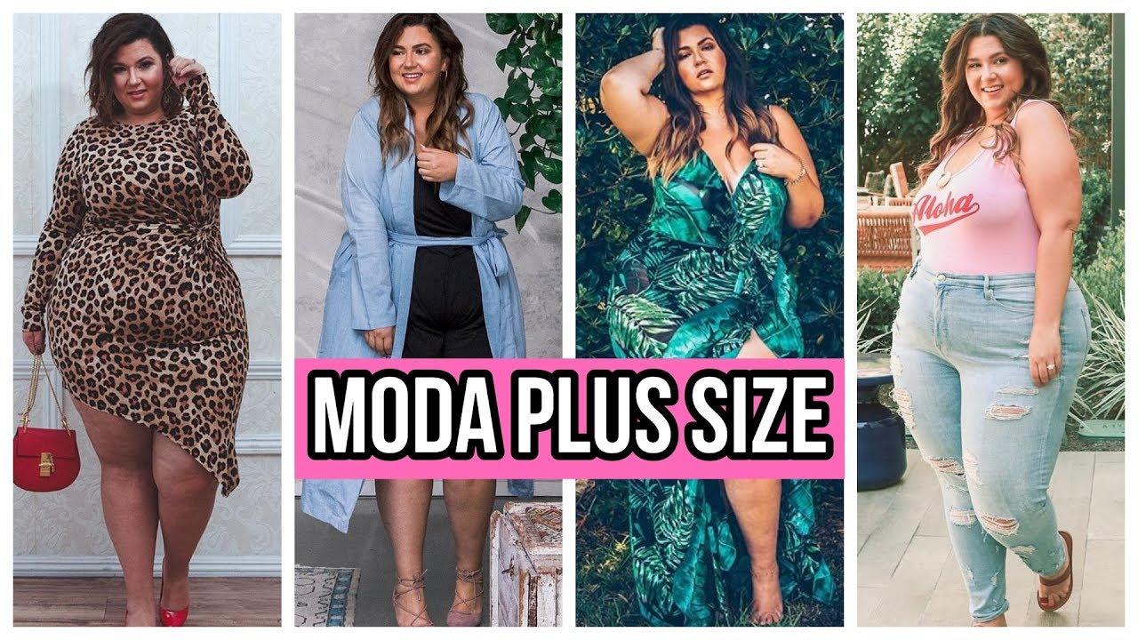 MODA PRIMAVERA VERANO 2019   OUTFITS CASUALES - MODA PLUS SIZE 8