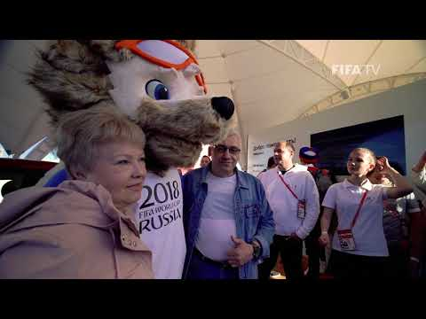 Zabivaka at the FIFA Fan Fest in Kazan!