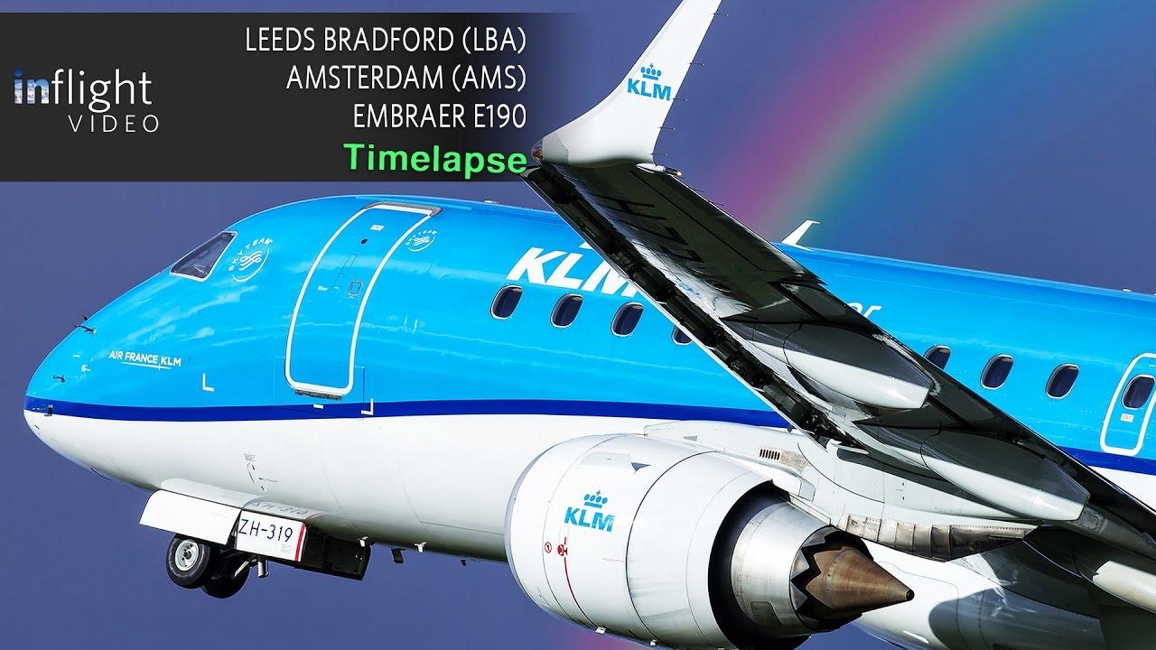 Timelapse Flight Leeds Bradford To Amsterdam Klm Embraer E190