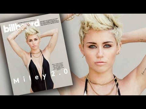 "Miley Cyrus ""Not Trying"" To Be Nicki Minaj - Billboard Magazine Cover"