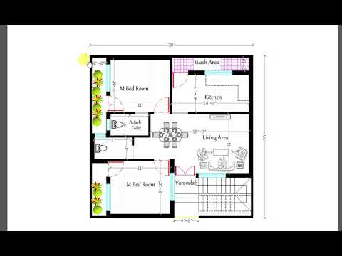 900 sq ft 2BHK NEW HOUSE PLAN - YouTube