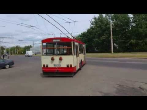 Trolleybus Škoda 15tr departing from depot Lithuania