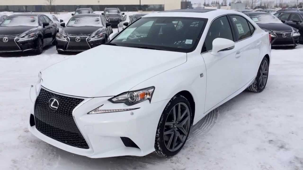 2014 Lexus IS 350 AWD Premium F Sport Package Review In Ultra White    YouTube