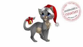 Нарисованные картинки кошек  Как нарисовать новогоднюю кошку поэтапно карандашом