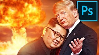 Photoshopping DONALD TRUMP and KIM JONG UN ❤️❤️