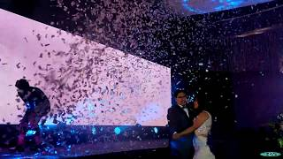 Funk Circuit™ White Confetti for a Wedding at East Ocean Palace, Parañaque City, Philippines