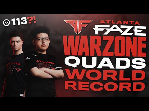 ATLANTA FAZE 113 KILLS BREAK COD WARZONE SQUAD WORLD RECORD w/ Priestahh and Cellium