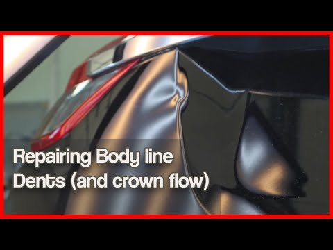 Dent Repair Body Line - PDR Tutorial / Body Line Dents-Crown Flow