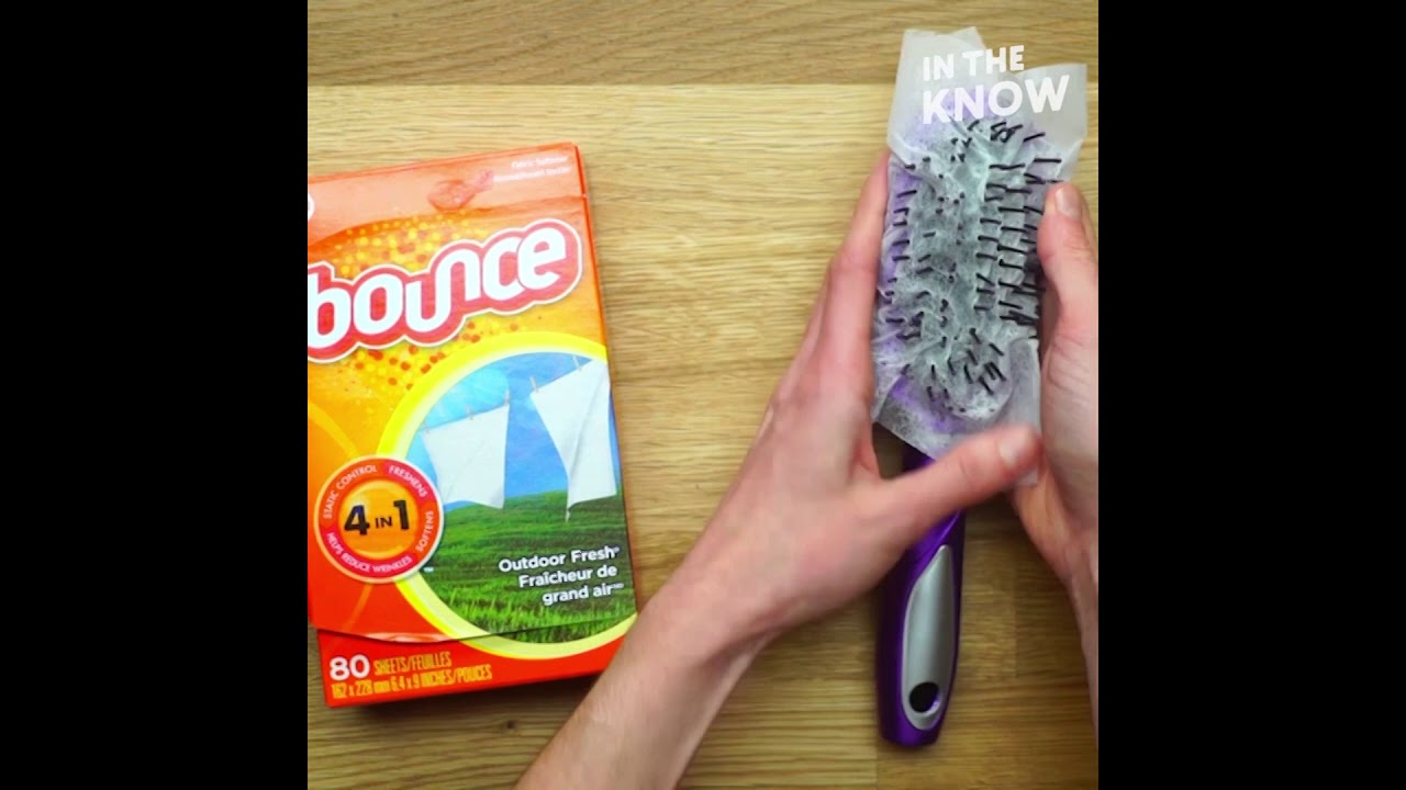 Use a Dryer Sheet to Fight Frizzy Hair