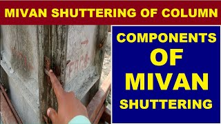 Components of Mivan and Wooden Shuttering of RCC Column at Construction Site