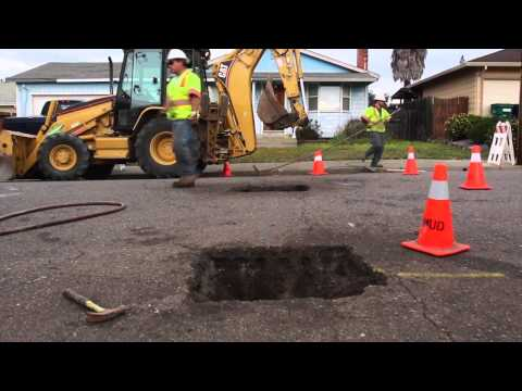 Healdsburg, CA Water Service Utility Cut Repair with EZ Street Asphalt