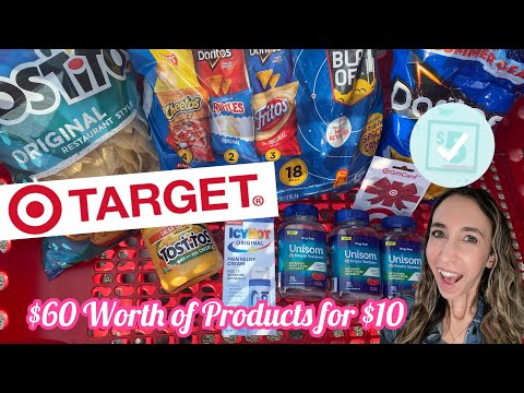 TARGET COUPONING 7/25-7/30 $60 WORTH OF PRODUCTS FOR $10 IN STORE & PICKUP DEALS