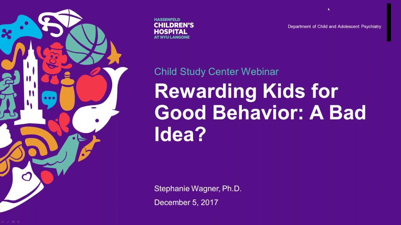 Rewarding Kids for Good Behavior: A Bad Idea?