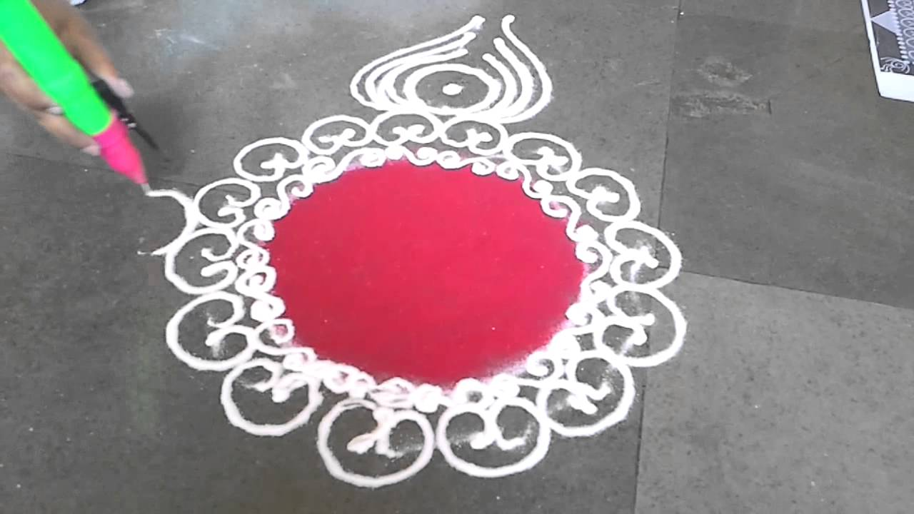 simple sanskar bharti rangoli design for diwali   youtube