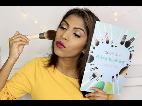 Makeup tutorial using only Eco Tools brushes and sponges ♡ Affordable makeup brushes | Shuanabeauty
