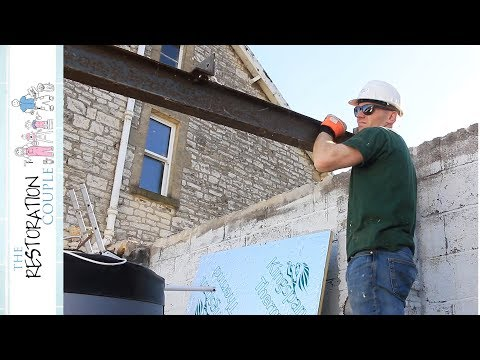 MORE LIFTING & SHIFTING - Garage Door and Steel Beam