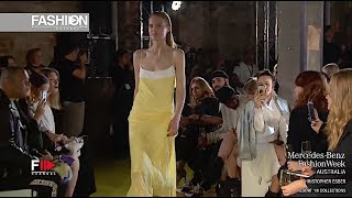CHRISTOPHER ESBER MBFW AUSTRALIA RESORT 2018 - Fashion Channel