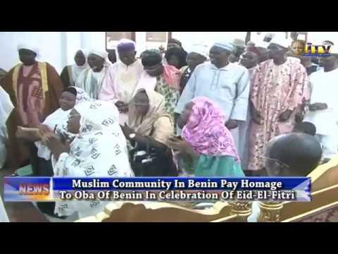 Muslim Community In Benin Pay Homage To Oba Of Benin In Celebration Of Eid-El-Fitri