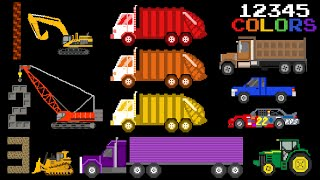Educational Vehicles Volume 1 - Colors & Counting, Street & Construction - The Kids' Picture Show