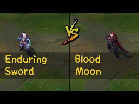 Enduring Sword Talon vs Blood Moon Talon Skins Comparison (League of Legends)