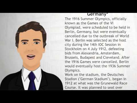 1916 Scheduled for Berlin, Germany* - Wiki Videos