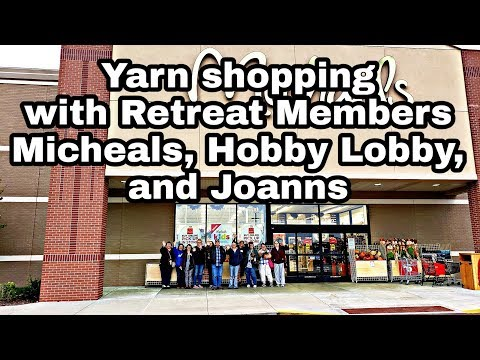 Yarn Shopping with the Crochet Group Micheals Hobby Lobby JoAnns | BAG O DAY CROCHET VIDEO
