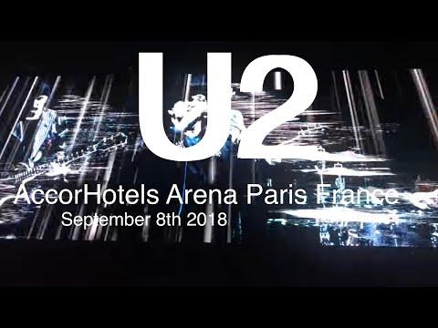 U2 eXPERIENCE+iNNOCENCE Tour 2018 Live Full Concert 4K 8 September Paris France AccorHotels Arena