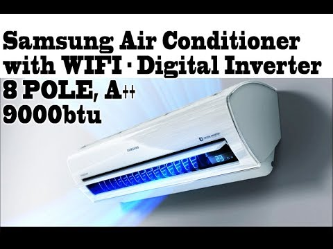 Samsung Smart Air conditioner, WIFI - 8 pole Inverter, premium  AR09KSWSBWKNZE BEST AIR CONDITIONER