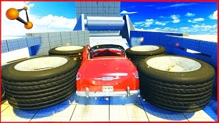 BeamNG Drive - Giant Crash Machines - Epic Crash testing #3
