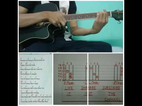 GUITAR LESSON - Song - Phoolon Ke Rang Se - by VIJAY ANAND MASTER MIX