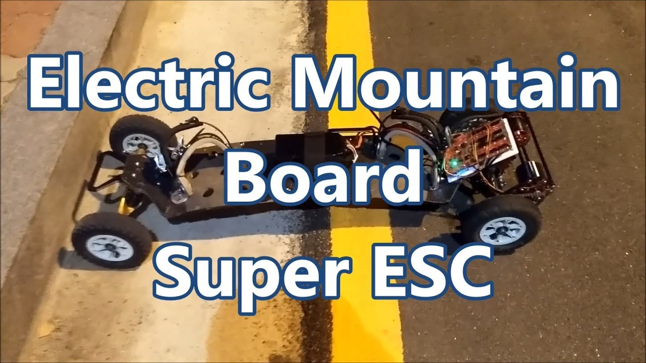 Electric Mountain Board Super ESC Test